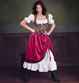 B 3906 Countrywoman costume in 2 varieties