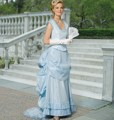 M 2062 Pleated Skirt with Top and Bustle Pad