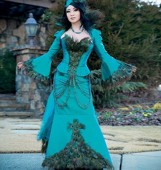 M 7218 Yaya Han Peacock Jacket, Corset and Skirt