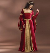 B 4571 Medieval dress floor length