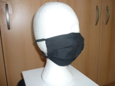 F 02 Protective mask black cotton
