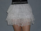 U 307 Mini Petticoat skirt tulle 5 layers, white