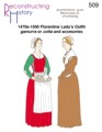 RH 509 1470s-1500 Florentine Lady's Outfit gamurra