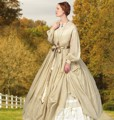 B 5831 Victorian Misses' Dress and Petticoat